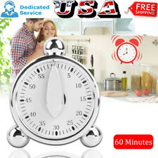 60 Minutes Kitchen Mechanical Timer Cooking Baking Reminder Loud Alarm Clock NEW