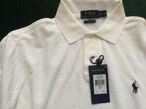 2 Ralph Lauren White Polo Shirts Custom Fit