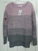 Cloud Chaser Women's Sweater Pink Gray Size Size Small NWT