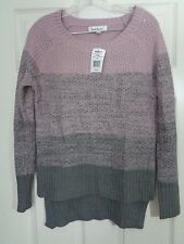 43f038a05 Free shipping. Material: Acrylic. Cloud Chaser Women's Sweater Pink Gray  Size Size Small NWT