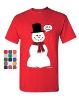 Let It Snow T-Shirt Funny Snowman Christmas Xmas Mens Tee Shirt