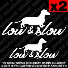 LOW & SLOW Decal Sticker JDM Euro funny vw Si fatlace slammed stance hellaflush