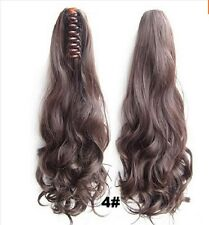 Ponytail Clip in Natural Hair Extensions Claw On Pony tail Real for Human