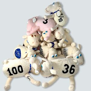 10 Lot of Serta Mattress Sheep Lamb Curto Toys Plush Rare And Exclusive Ones!
