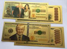 10x Donald Trump 24K Gold Plated Bookmark Novelty Dollars Bill Banknote Gag Gift