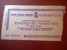 entrada 1964 X copa europa CHAMPIONS REAL MADRID DUKLA PRAGA ORIGINAL TICKET
