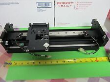 OPTICAL LASER  LINEAR STAGE POSITIONING WITHOUT MOTOR OPTICS AS IS BIN#A1