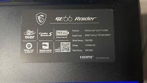 "MSI GE66 Raider 10SGS 15.6"" (1TB SSD , Intel Core i7 10th Gen., 5.10GHz,..."