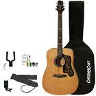 Sawtooth Acoustic Guitar Beginner Bundle w/ Tuner, Bag, Wall Hanger & More for sale