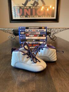 "Nike Air Jordan 12 Retro ""Hornets Blue"" (CB) crib shoes infant size 3C"
