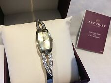 Ladies Accurist 8032 gold plated Crystal set dress watch RRP £89.99