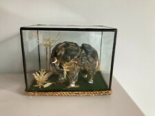 More details for small victorian oyster sea shell cased elephant diorama - taxidermy / curio