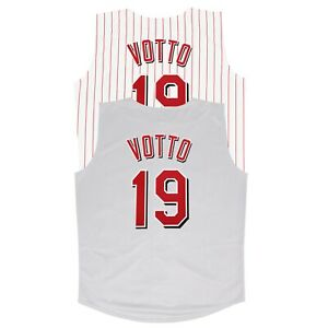Joey Votto Cincinnati Reds Home & Grey Vest Jersey Men's (M-2XL)