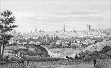 TROYES en CHAMPAGNE: TILBURY (ou CABRIOLET) sur la ROUTE -Gravure du 19e s.