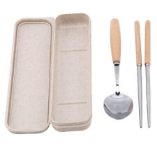 Camping Outdoor Portable Stainless Steel Chopsticks Spoon Tableware Sets LH