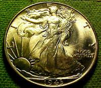 1943 Walking Liberty Half Dollar 50 Cents 50c ~ BRlGHT LUSTROUS GEM BU COIN 41GA
