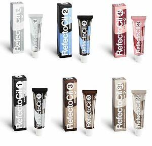 RefectoCil Eyebrow Tint Black Natural Brown Eyelash Tinting Dye Henna 15ml