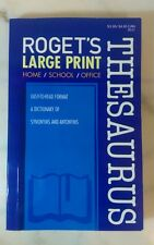 Roget's Large Print paperback Thesaurus. New printed 2013