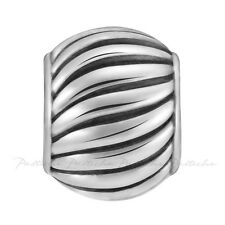 Lovelinks Bead Sterling Silver, Spiral Oxidized Spacer Fashion Jewelry TT515