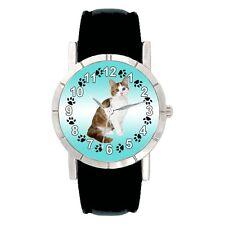 Turkish Angora Kitten Cat Mens Ladies Water Resistant Quartz Wrist Watch SA2737