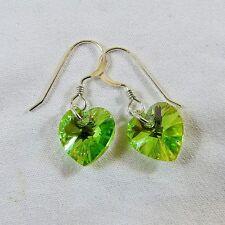Peridot Sterling Silver Fashion Earrings