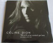 """CÉLINE DION - CARDSLEEVE SINGLE CD """"ET S'IL N'EN RESTAIT QU'UNE"""" - NEW - NEUF"""