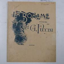 Salon PIANOFORTE Puccini / BUZZI-PECCIA LA BOHEME POTPOURRI, 11pages