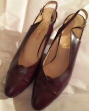 Ferragamo AUTH. women's brown  sling back heels Size 9.5M (Runs small fits 8.5M)