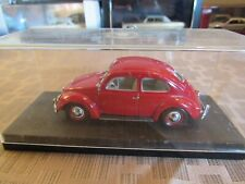 VW 1200 OVAL WINDOW  1/43 MINICHAMPS  RARE!  RED,  SUPERB MODEL! NO ORIG BOX!