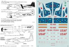 MICROSCALE DECALS 1/72 F-82F Twin Mustang 318th F(AW)S 325th 52nd F(AW)G (USAF)