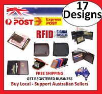 17 Designs - RFID Mens Womens Wallet Security Lined Full Cow Leather Passport