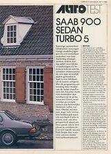 Saab 900 Sedan Turbo 5 Sonderdruck NL Autovisie 24/80 1980 Auto PKWs Schweden