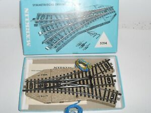 Lot 1. Marklin M Track 5214 Electric Triple point. HO. For 3 rail AC. Boxed