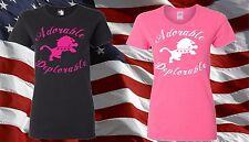 Donald Trump T-Shirt I'm Adorable Deplorable 2016 President No Hillary Ladies