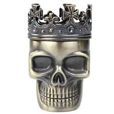 Creative King Skull Shape Metal Tobacco Grinder Herb Spice Muller Crusher Bronze