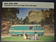 1963 Dodge Motor Home Sales Brochure Sheet Camper RV Truck Excellent Original 63
