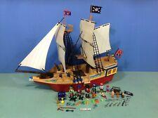 (K131) playmobil Grand bateau pirates ref 4290 + nombreux accessoires
