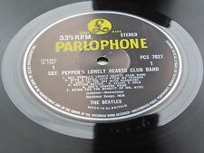 THE BEATLES SGT PEPPERS 1969  STEREO   NO SOLD IN UK  BLACK & YELLOW PARLOPHONE