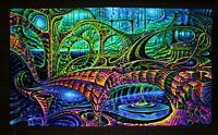 Backdrop Visionary Art UV Psychedelic Tapestry Psytrance Trippy Festival banner