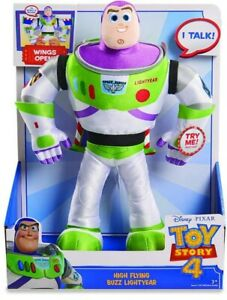 NEW Toy Story 4 High Flying Buzz Lightyear  Talking Plush RRP £27.99 Toys Games