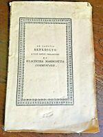 Marsella D. A. - De Sancti Benedicti a Fano..et Hyacintha Marescottia.. 1825