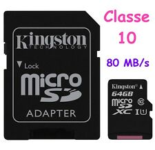 Kingston Sdcs/32gb Carte Micro SD Canvas Select 16gb Uhs-i Classe 10 Avec...