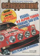 ECHAPPEMENT 150 1981 R5 ALPINE TURBO FERRARI 308 GTB RUGGERI LYON CHARBONNIERES
