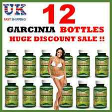 12 x BOTTLES - 95% -3000mg Daily GARCINIA CAMBOGIA Capsules Weight Loss Diet