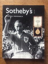 Sotheby's Auction Catalogue Football Memorabilia Olympia London 2001 medals VGC