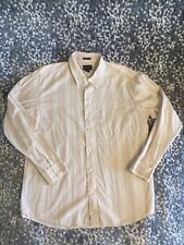 NWOT American Eagle Outfitters Mens Hawaiian Ivory Floral Shirt Slim Fit X-Large