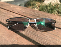 Men's Half Rimless Eyewear Reading Glasses Photochromic Grey Titanium Alloy & TR