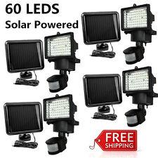 4 PACK 60 SMD LEDs Outdoor Solar Motion Sensor Security Flood Light Spot 80 100@