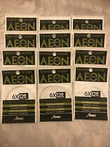 Box AEON NOS Tapered Knotless Leader 6X 12 Ft Fly Fishing 12 Packs Japan Amon