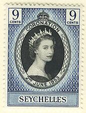 SEYCHELLES 1953 CORONATION MNH